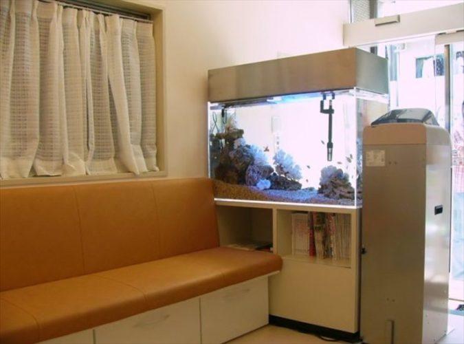 東京都板橋区 皮膚科医院様  90cm海水魚水槽  設置事例 メイン画像
