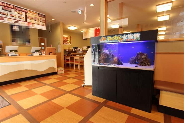 東京都東久留米市 飲食店様  120cm海水魚水槽  設置事例 メイン画像