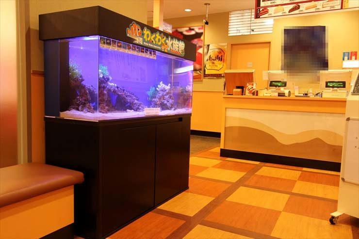 埼玉県大宮 飲食店  120cm海水魚水槽  設置事例 メイン画像