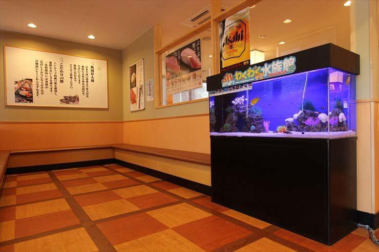 東京都板橋区 飲食店様  120cm海水魚水槽  設置事例 メイン画像