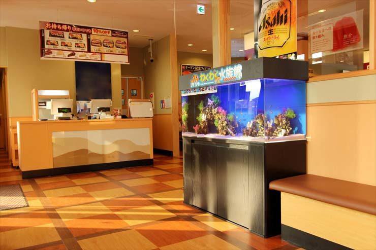 埼玉県上尾市 飲食店様  120cm海水魚水槽  設置事例 メイン画像