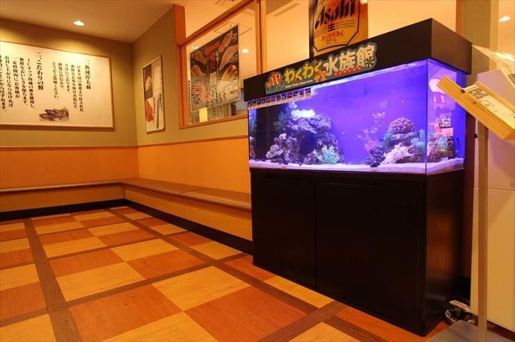東京都三鷹市 飲食店  120cm海水魚水槽  設置事例 メイン画像
