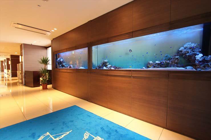 千葉県木更津市 結婚式場様 300cm海水魚水槽 設置事例 メイン画像