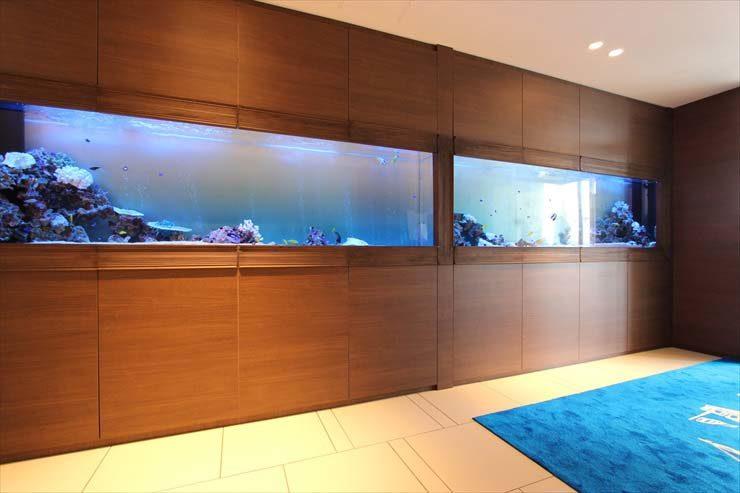 千葉県木更津市 結婚式場様 300cm海水魚水槽 設置事例 水槽画像2