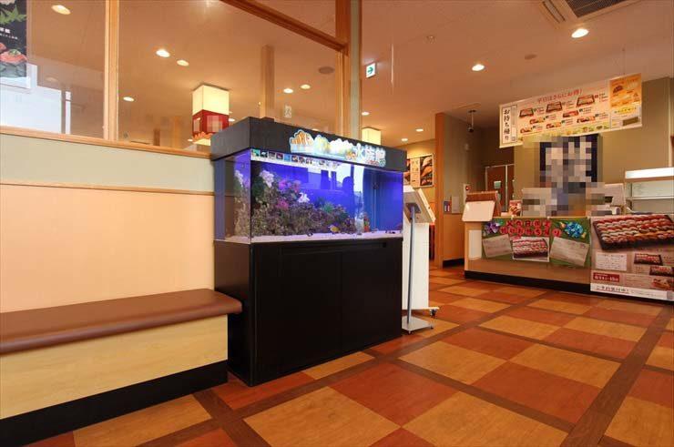 東京都東村山市 飲食店様  120cm海水魚水槽  設置事例 メイン画像