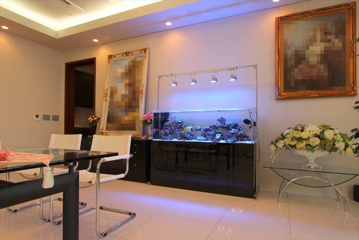 都内 個人宅様  リビングのサンゴ水槽設置事例  メイン画像