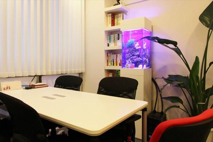 吉祥寺 オフィス 30cm海水魚水槽 設置事例 メイン画像