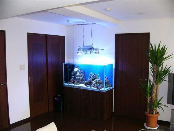 東京都豊島区 個人宅様  120cm海水魚水槽  設置事例 メイン画像