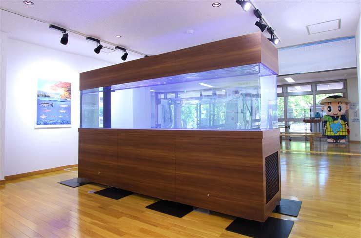 観光交流センター様  ヒメマス水槽  設置事例 メイン画像