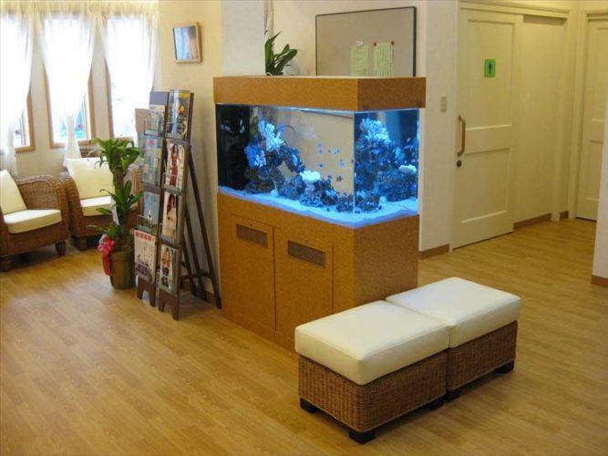 オアシス脳神経クリニック様  120cm海水魚水槽  設置事例 メイン画像