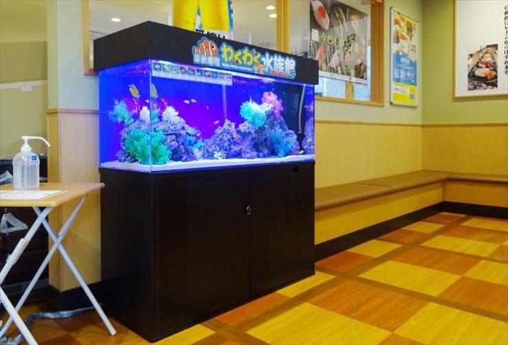 飲食店様  120cm海水魚水槽  設置事例 メイン画像