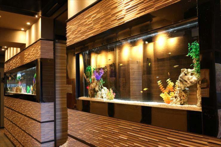 東京都立川市 飲食店様 大型水槽 水槽メンテナンス事例 メイン画像