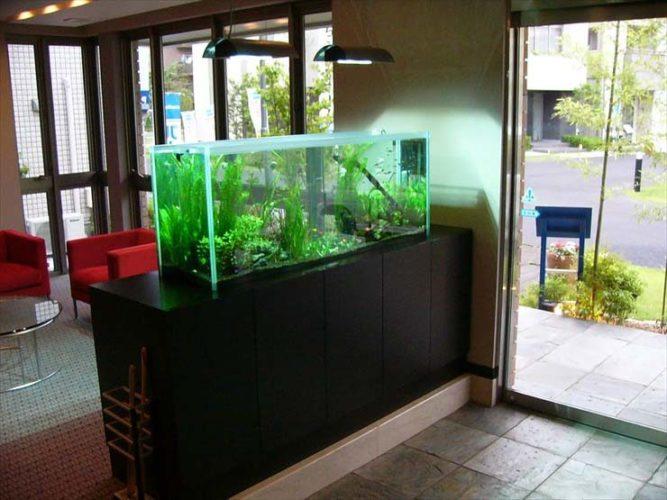 埼玉県 モデルハウス様  150cm淡水魚水槽  設置事例 メイン画像