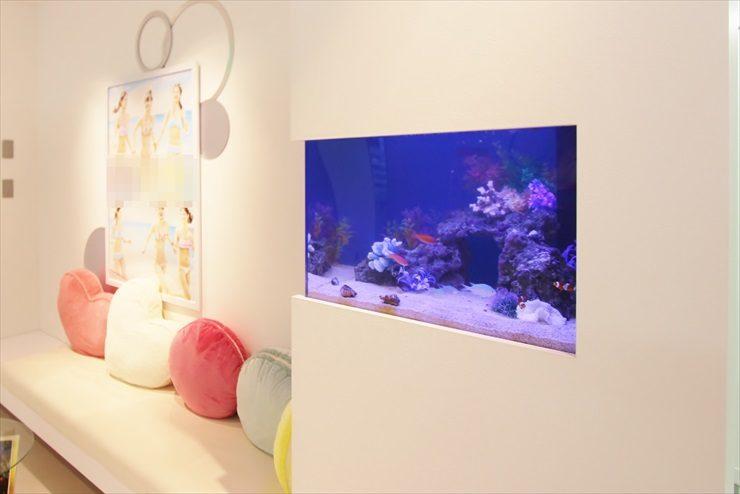 千葉県 習志野市 美容サロンのエントランス 海水魚水槽設置事例 メイン画像