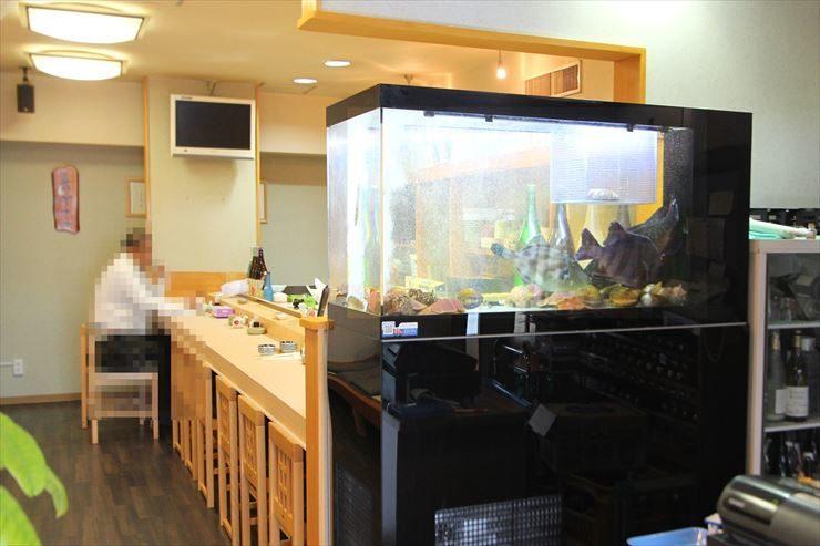 千葉県 寿司屋 120cm活魚水槽 設置事例 メイン画像