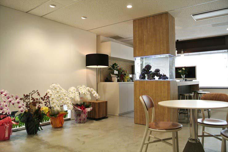 東京都中央区 企業様  80cm海水魚水槽  設置事例 メイン画像