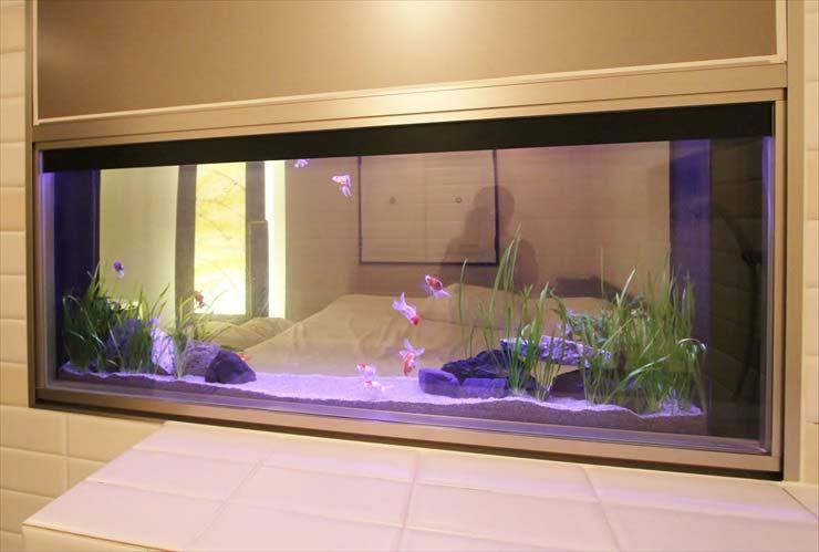 ホテル 客室 はめ込み型アクアリウム 金魚水槽販売 リニューアル事例 水槽画像1