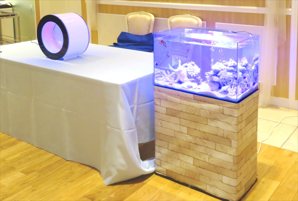 アクアリウムウェディング 水槽短期レンタル事例 メイン画像