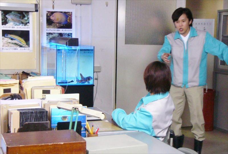 ドラマ再現VTR 水槽短期レンタル 設置事例 水槽画像2