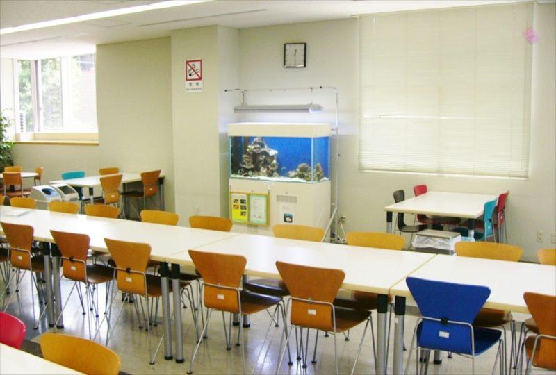大正大学様 2F学生ラウンジ 海水魚水槽 設置事例 水槽画像3