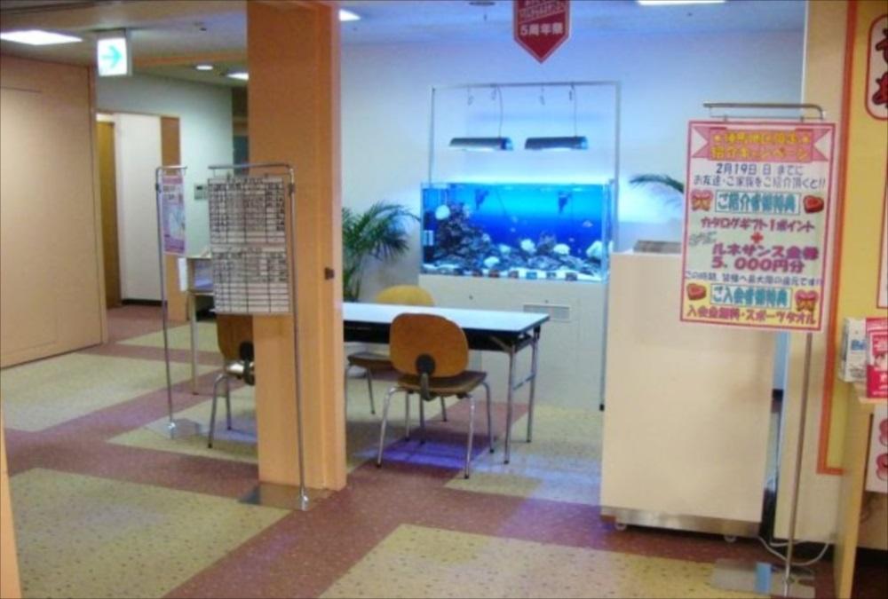 スポーツクラブ 120cm海水魚水槽 全体画像