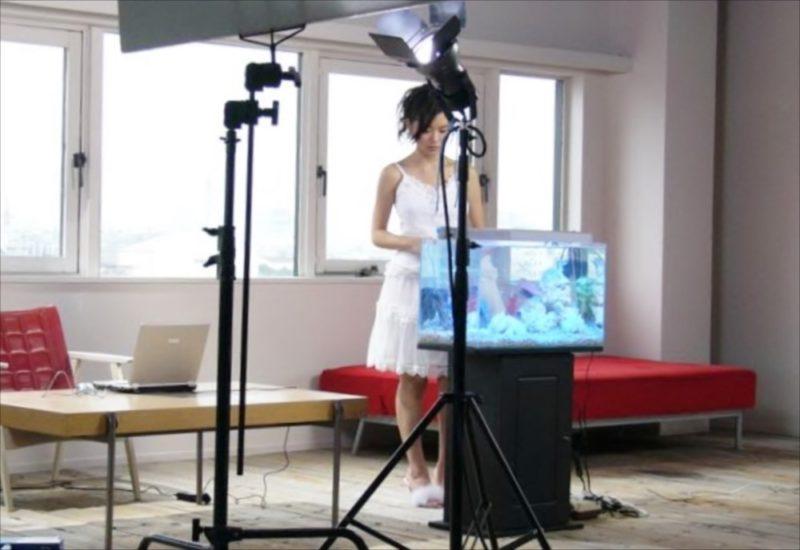 女優 吉野紗弥香さん DVD撮影 水槽短期レンタル 水槽画像2