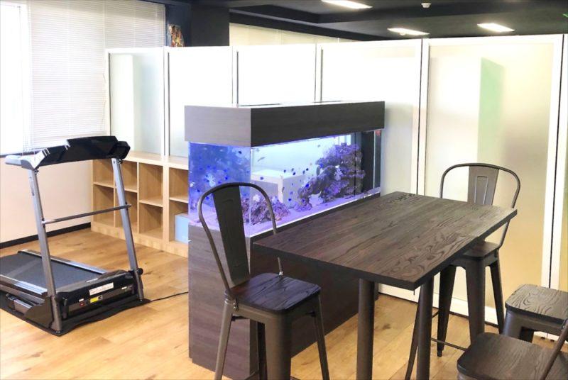 オフィス事務所 大型150cm海水魚水槽 設置事例 水槽画像4