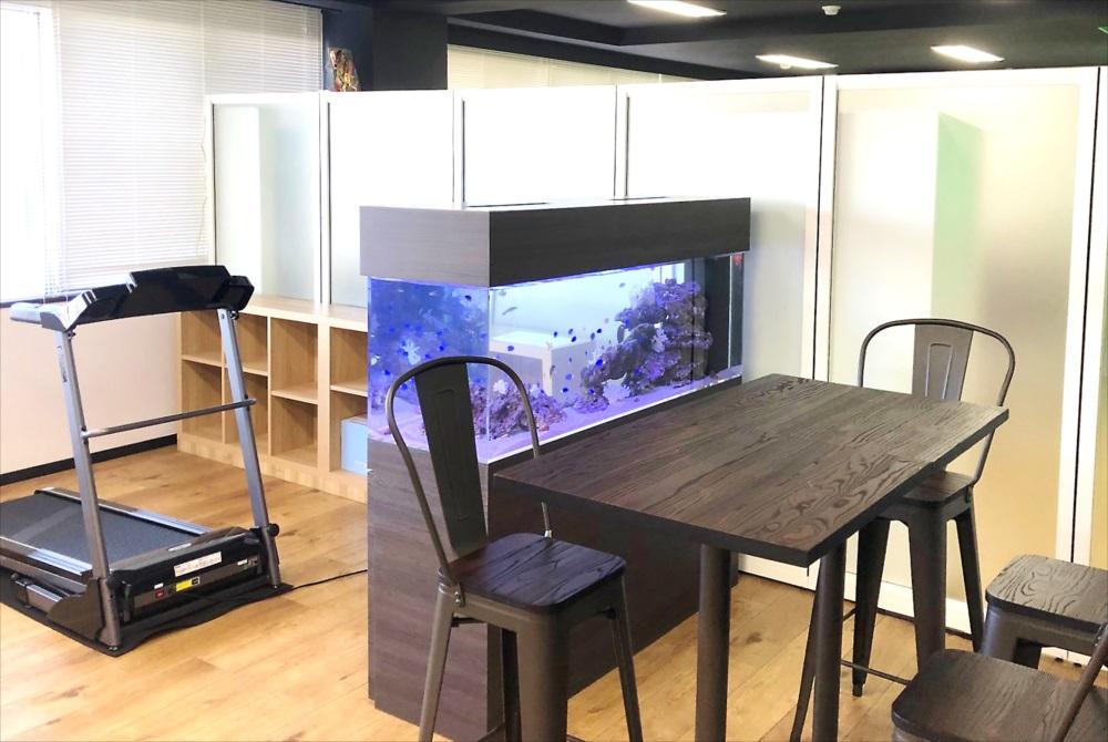 オフィス事務所 150cm海水魚水槽 全体画像
