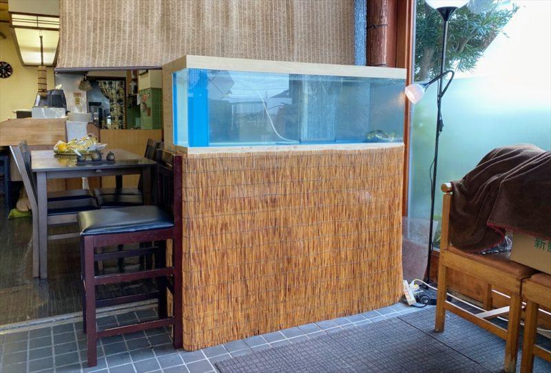 鮨割烹うめむら 様 活魚水槽 スポットメンテナンス 水槽画像1