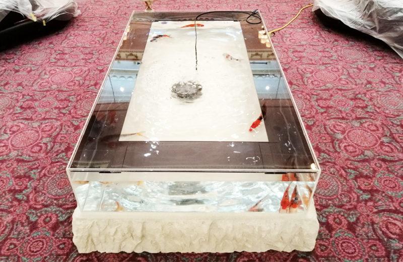 テレビドラマ『ネメシス』撮影現場に大型のテーブル水槽を設置! 水槽画像1