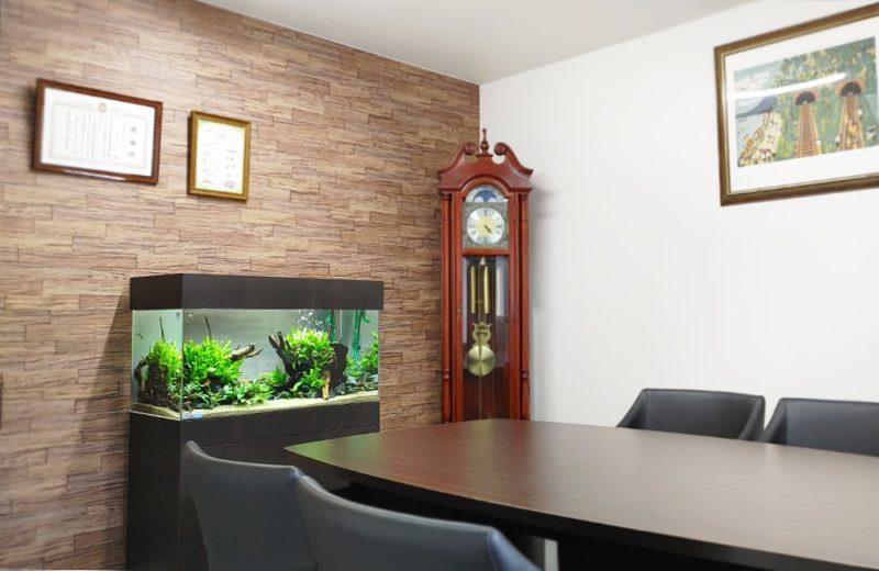 愛知県 オフィス 90cm淡水魚水槽 設置事例 水槽画像2