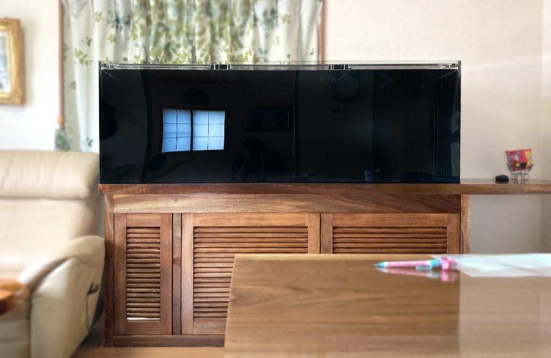 埼玉県 個人宅 アロワナ用 180cm淡水魚水槽 販売+設置事例 水槽画像3