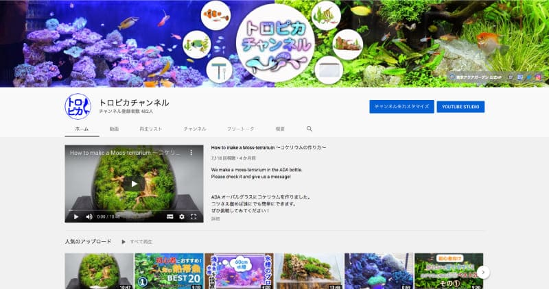 東京アクアガーデン Youtubeチャンネル