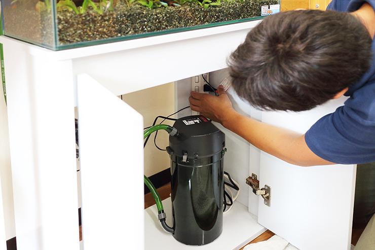 水槽 メンテナンス 機材 調整
